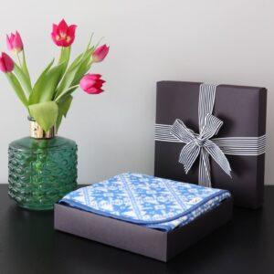 Kinkekarp sinine pleed Loko